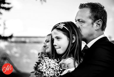 De vader-dochter foto