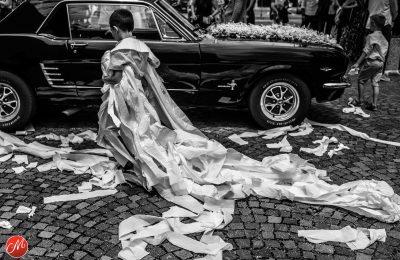 De toiletpapier trouwjurk
